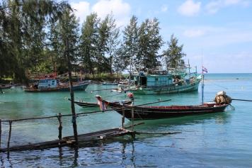 Ships in the Gulf of Thailand by Phangan Beach Resort