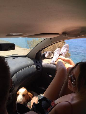 Driving with my pals (photo credit: Jui Shih)